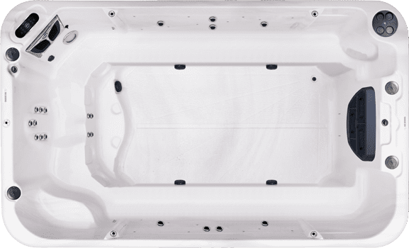 1304 Bench Wellness X spa top view
