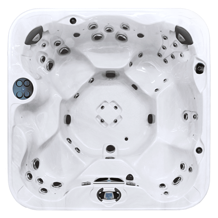 freedom hot tub model top view